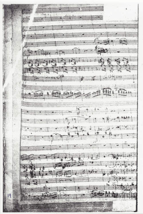 Last page of the surviving violin concerto in C fragment